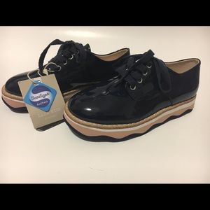 Zara Shoes - Zara Kids Girls Youth Lace Up Patent Leather Derby